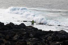 Океанские волны перемещения Стоковые Фотографии RF