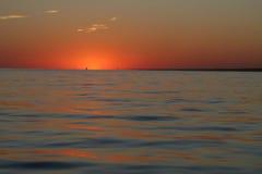 океанский заход солнца Стоковые Фото