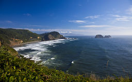 океан береговой линии сценарный Стоковое Изображение RF