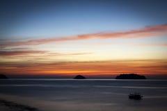 Океан вечера стоковое изображение rf