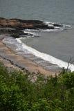 Океан встречает берег Стоковая Фотография RF