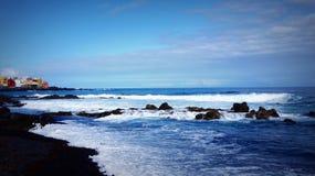 Океан в Тенерифе Стоковое Изображение RF