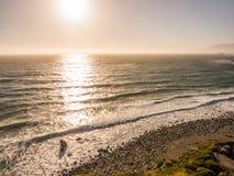 Океан в Тихой океан береговой линии, большом Sur на шоссе 1 Стоковая Фотография RF