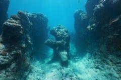 Океан естественной горной породы подводный стоковое изображение rf