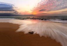 Океан захода солнца Стоковая Фотография