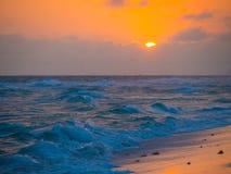 Океан захода солнца Стоковые Фотографии RF