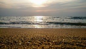 Океан, заход солнца Стоковые Фотографии RF