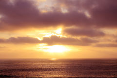 Океан, заход солнца CA Стоковая Фотография RF