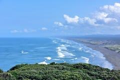 Океан и волны Новая Зеландия стоковая фотография