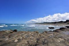 Океан и волны Новая Зеландия стоковое изображение rf