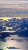 Океан и облака на заходе солнца Стоковая Фотография RF