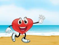 Океан и сердце Стоковое фото RF