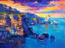 Океан и скалы Стоковое Изображение RF