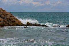 Океан и утес Стоковое Изображение RF