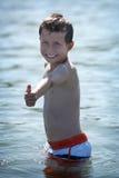 океан мальчика Стоковое Фото