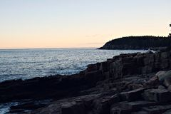 Океан Мейна Стоковая Фотография RF