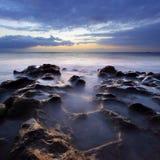 океан над заходом солнца Стоковая Фотография