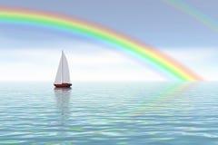 океан над радугой иллюстрация штока