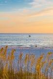 Океан на вечере Стоковое Фото