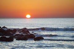 океан над восходом солнца Стоковое Изображение