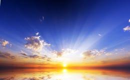 океан над восходом солнца Стоковое фото RF