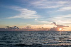 Океан на заходе солнца Стоковое Фото