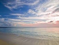 океан над заходом солнца Стоковое Фото