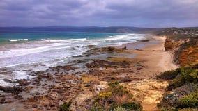 Океан на туристической достопримечательности 12Apostles Стоковое фото RF