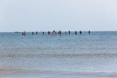 Океан доск Paddlers Стоковое Изображение RF