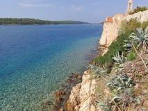 Океан от Coratia, landscrape стоковое изображение rf