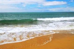 океан пляжа песочный Стоковое Фото