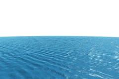 Океан произведенный цифров графический голубой Стоковые Изображения RF