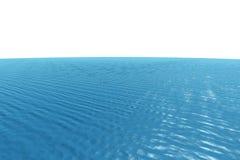Океан произведенный цифров графический голубой Стоковые Изображения