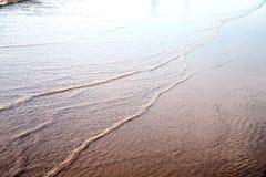 океан пляжа песка Марокко Африки дюны влажный Стоковые Изображения