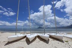 океан пляжа песочный Остров медового месяца o тропический Маврикия Стоковое Изображение