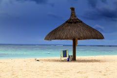 океан пляжа песочный Остров медового месяца o тропический Маврикия Стоковые Изображения RF