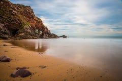 океан пляжа песочный Стоковая Фотография