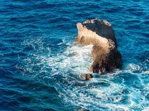 Океан Сайпана скалы Banzai Стоковое Изображение RF