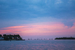 Океан сумерк Key West Стоковая Фотография