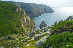 Океан с побережья Португалии Стоковые Фотографии RF