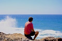 Океан человека Стоковое Изображение