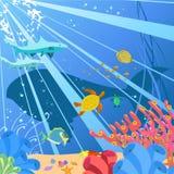 Океан иллюстрация вектора
