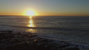 океан 3d представляет заход солнца сток-видео