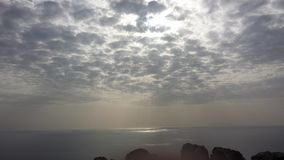 океан 3d представляет небо места Стоковое Изображение RF
