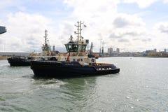 Океан HMS приезжая на Sunderland, 1-ое мая 2015 Стоковая Фотография