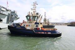 Океан HMS приезжая на Sunderland, 1-ое мая 2015 Стоковые Изображения