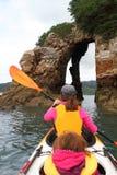 Океан kayaking Стоковые Фотографии RF