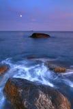 океан moonrise сверх Стоковые Фото
