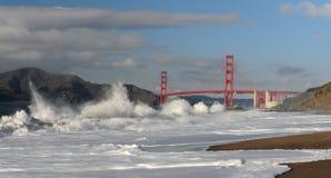 океан pacific строба моста золотистый стоковое фото rf