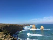 Океан Road~The Australia@Melbourne~Greant 12 апостолов Стоковая Фотография RF
